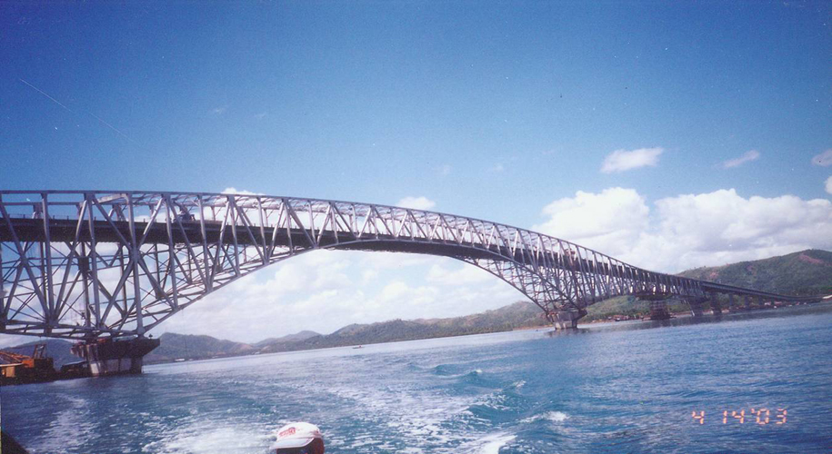 San Juanico Bridge http://www.maincoat.com.ph/major_projects_maincoat_philippines_paint.php